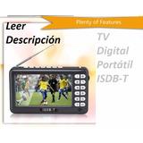 Tv Portatil Sintonizador Digital Isdb-t Pantalla 4.3p Gsp1