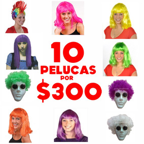 10 Pelucas Por Solo $299 Articulos Fiesta Animacion Bodas