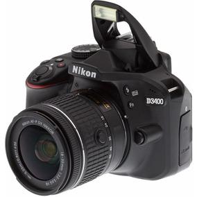 Camera Nikon D3400 + Lente Nikon 18-55