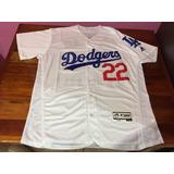 Jersey Beisbol Dodgers La. Clayton Kershaw Talla Mediana