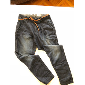 Pantalón Jean Tipo Babucha Para Niñas, Zara