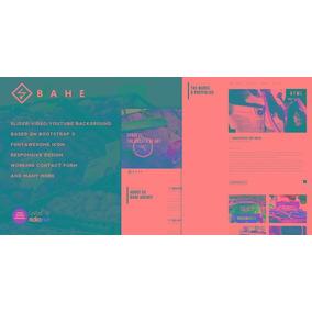 Bahe - Responsive One Page Portfolio Template