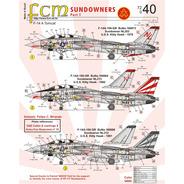 Decalque Avião F-14 Tomcat 72040 Sundowners 1/72 Decal Fcm