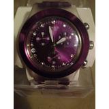 Reloj Swatch Irony Diaphane Morado Dama Original Oferta