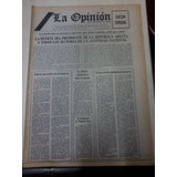 Diario La Opinion Antiguo 2 Julio 1974 Muerte De Peron Espec