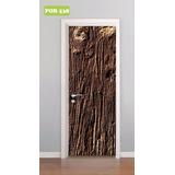 Adesivo Decorativo Para Porta Madeira Árvore Tronco Mod. 538