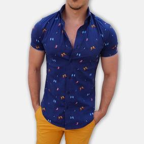 Camisa Manga Corta John Leopard Nueva Temporada Estampado
