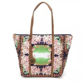Cartera Chenson Shopping Estampado Con Flores Con Etiqueta