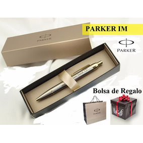 Bolígrafo Parker Im Estuche Premium + Bolsa De Regalo Col Vs
