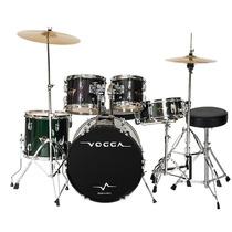 Bateria Acústica Talent Vpd924 Preta Bumbo 22 Vogga Completa
