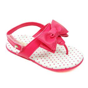Sandália Pampili Infantil Menina Com Laço Pink Lojas Passold
