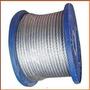 Cable De Acero Galvanizado 6x7 + 1 Ø 4 Mm X 50 Mts Riendas