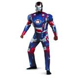 Traje De Disfraz Marvel Iron Man 3 Iron Patriot Deluxe Mens