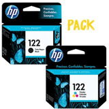 Combo Cartuchos Hp Original 122 Negro + Tricolor 3050 2050