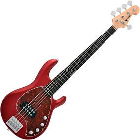 Contra Baixo Estilo Music Man Phoenix Msr Vermelho 5 Cordas