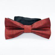 Corbata Moño Pajarita Rojo Punto Brillante Hombre