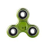 Fidget Spinner Hand Cromado Verde Envío Gratis
