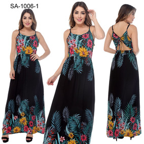 Vestido Feminino Soltinho Florido Costas Abertas Blogueira