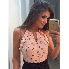 Blusas Para Dama En Chifon Estampadas ((