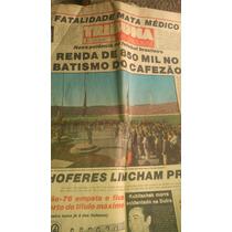 Jornal Antigo Inauguração Estádio Café Londrina X Flamengo