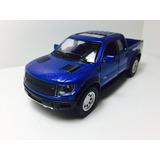 Miniatura Ford F-150 Svt Raptor 2013 Azul 1/46 Kinsmart