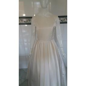 Vestido De Noiva, Longo, Cor Perola, Sob Medida