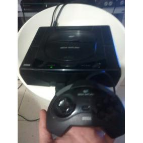 Sega Saturn Completo Com 1 Detalhe