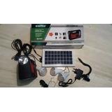 Kit Solar Portátil- Panel -3 Focos Led- Reflector-bateria