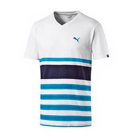 Camiseta Puma Remera De Algodón A La Base Escote V De Hombre