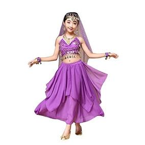 Disfraz Para Niños Foutou Girls Belly India Dance Traje Rop