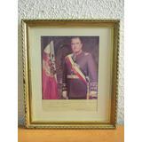 Foto Oficial Autografiada Presidente Augusto Pinochet Año 86