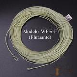 Linha Fly Fishing Pesca Wf-6- F #6 Flutuante 30.5m Com Loops