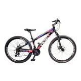 Bicicleta Vikingx Tuff X25 Shimano Freio A Disco Preta/pink