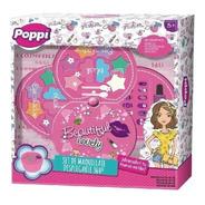 Set Maquillaje Con Uñas Desplegable Poppi S22058