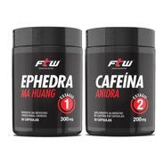 Combo Ephedra Ma Huang E Cafeína Anidra Estágio 1 E 2 - Ftw