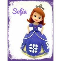 Princesa Sofia En Porcelana Fría, Adorno De Torta