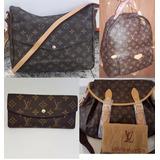 Kit Com 3 Bolsas E 1 Carteira Louis Vuitton Grife Importada