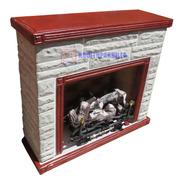 Hogar Frontal Con Leños A Gas De 10000 Calorias + Kit Inst.