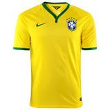 Camisa Nike Oficial Seleção Brasil 2014/2015 Torcedor Nº 10