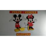 Cartel Feliz Cumple En Goma Eva Mickey Y Minnie