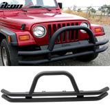 Defensa Delantera Con Burrera Jeep Wrangler 76-06
