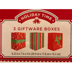 Navidad Caja Decoradas Para Regalos Con 3 Piezas