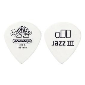 Uñetas Dunlop Tortex White Jazz Iii 1.0mm