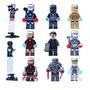 Coleccionable Iron Man Juego De 9 Minifiguras Lego Compatib