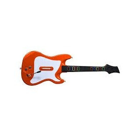 Guitarra Para Ps2 Savage Rockstar 10 Botões Laranja