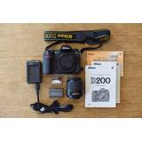 Camara Fotografica Profesional Nikon D 200 Completa C Acceso