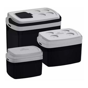Combo 3 Caixa Térmica 32, 12, 5 L Todas Cores Cooler Soprano