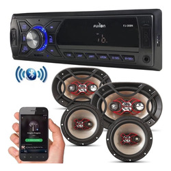Kit Som Automotivo Bluetooth Auto Falante Bravox 6 + 6x9 69