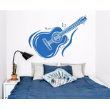 Vinilo Guitarra Música Decoración Pared, Interiores Mural L