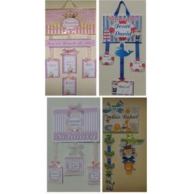 Cartel Colgantes De Nacimientos Para Puertas